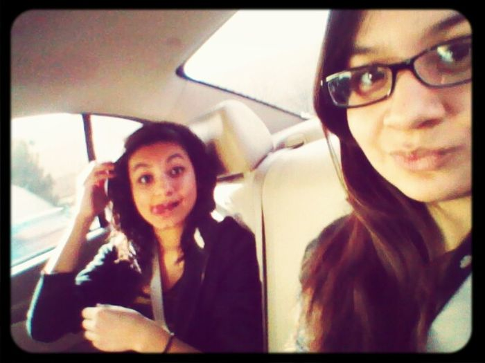 On our way to eat ^-^