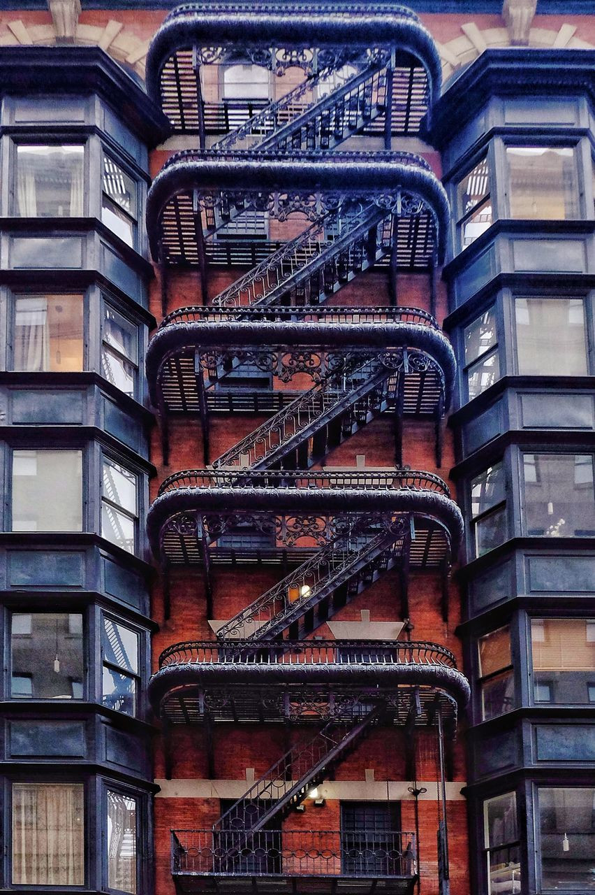 architecture, fire escape, staircase, building exterior, steps and staircases, built structure, steps, emergencies and disasters, no people, stairs, day, urgency, outdoors, apartment