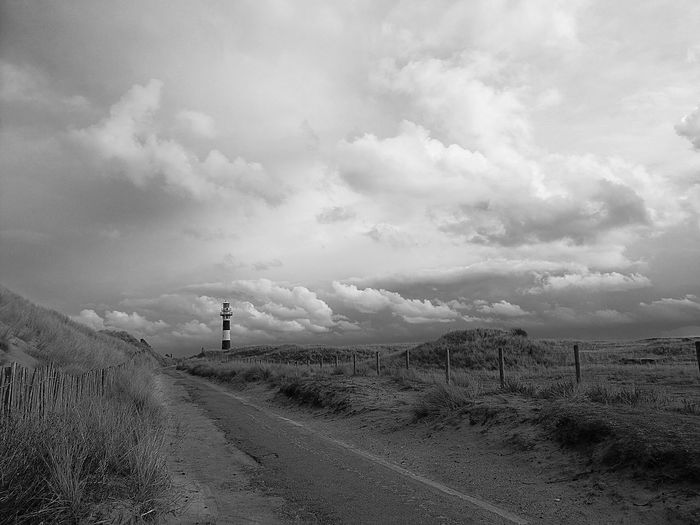 Outdoors Landscape Nature Cloud - Sky No People HuaweiP9Photography B&W Landscape B&WPhoto Lighthouse Lighthousephotography Lighthouse, Beacon, Light, Guide, Tower, Warn, Nieuwpoort Belgie Dunes