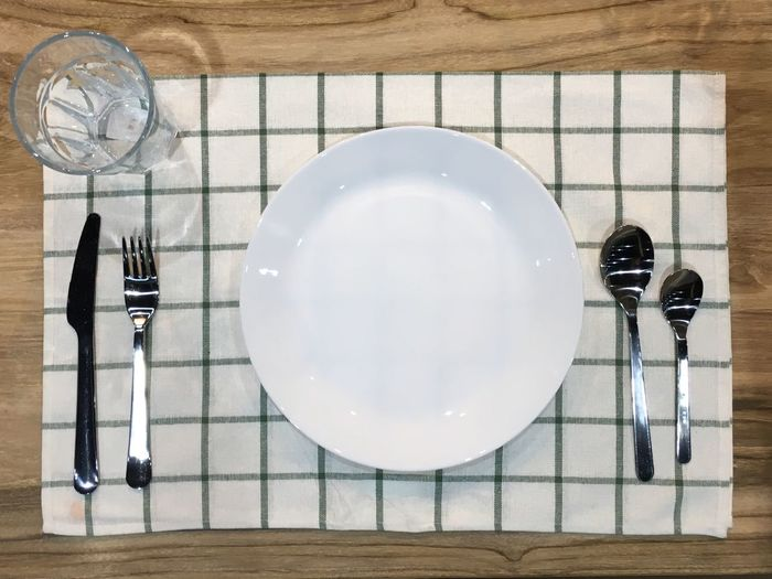 Directly above shot of place setting