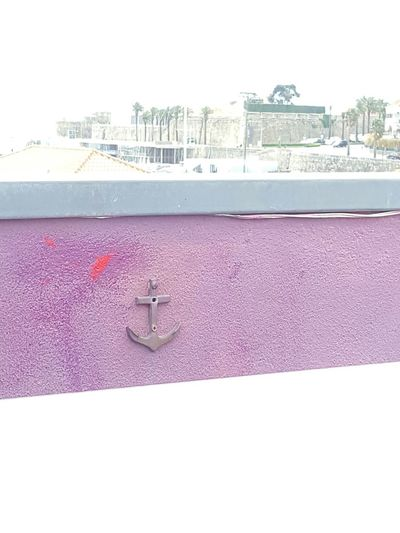 Throw The Anchor Anchor Pink Wall Urban Skyline Seaside Exploring Eye For Details Rooftop Photography Themes