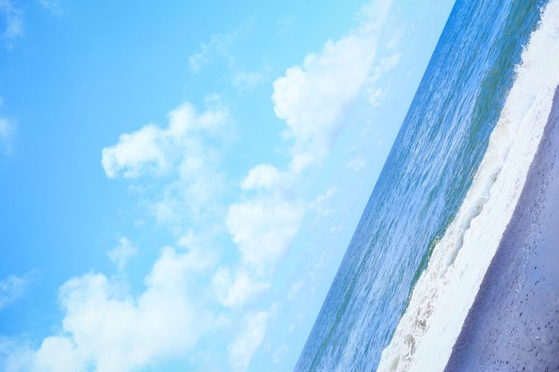 Sea Sky Cloud - Sky Beach Nature Beauty In Nature Horizon Over Water Scenics Day No People Tranquility Blue Water Outdoors