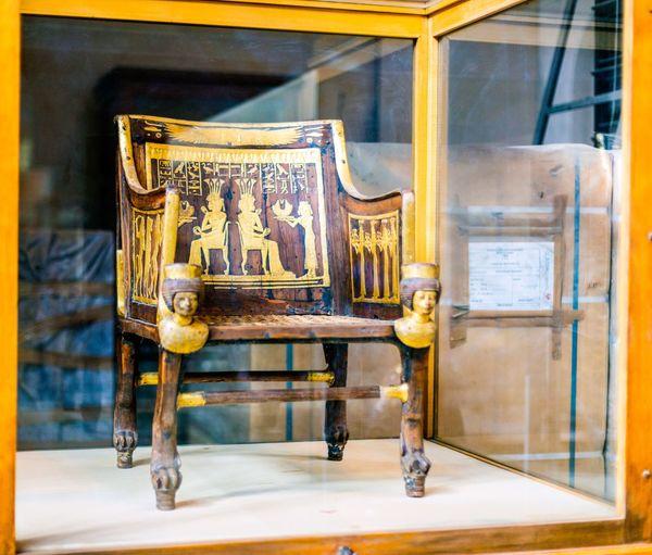 Chair Closed Egypt Egypt Cairo Egyptian Egyptian Museum Egyptology Faucet Golden Handle King Pharahos Statue Tout Ankh Amoun Tresure Tut Ankh Amon