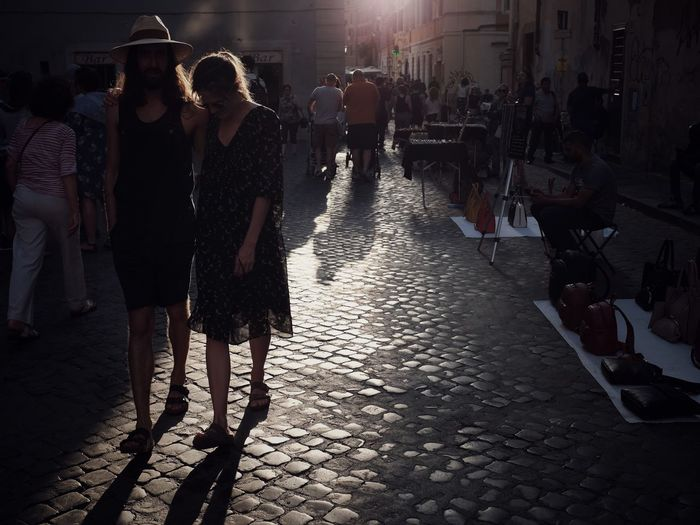 An evening in Rome Sunset City Group Of People Street Real People Night Lifestyles Crowd Adult Leisure Activity Enjoyment City Life Walking Visual Creativity Summer Exploratorium