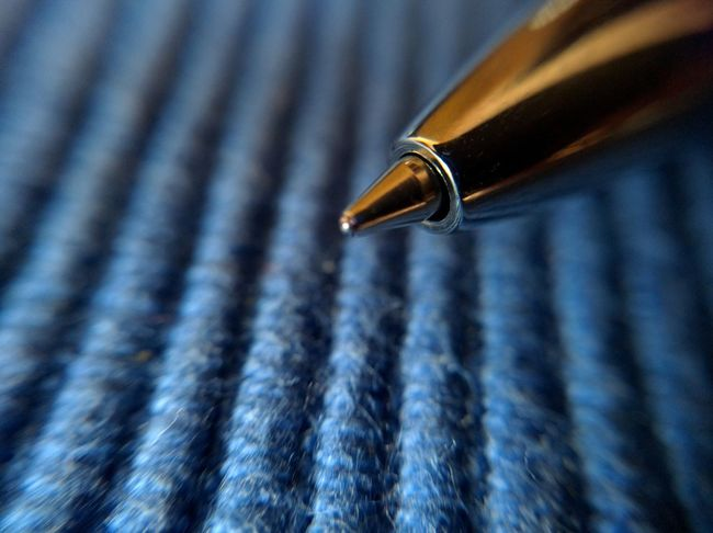 Pen Fountain Pen Close-up Writing Instrument Full Frame Nib No People Indoors  Day Blue Background Macro Ballpoint Biro Mobilephotography
