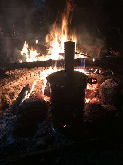 Camp fire and