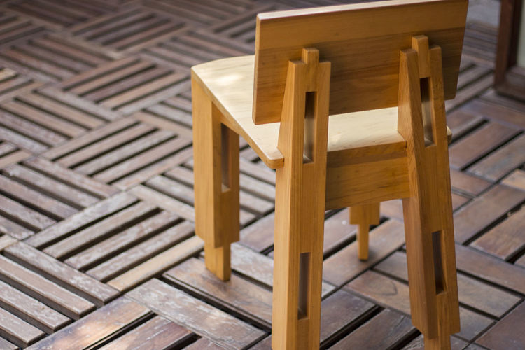 Chair made of