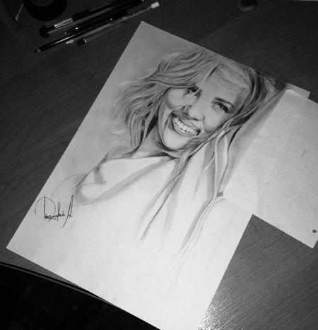 Cute Beauty Awesome Beautiful Artist Draw Portrait ArtWork Scarlett Johansson Myhobby
