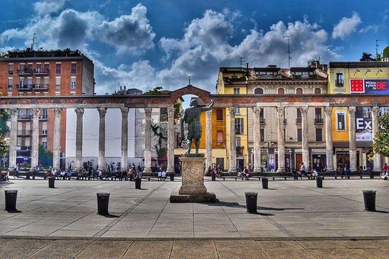 """Alle Colonne"" Colonnedisanlorenzo HDR Milanoinsight Nellacity Bellamilano Landscape Ic_landscapes Ic_hdr"