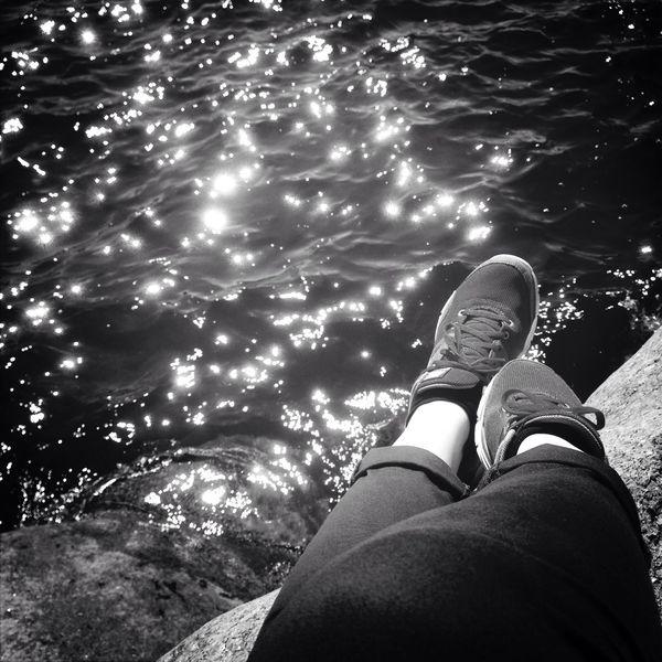 Floortraits Summer Blackandwhite Hanging Out Ocean Sunlight Sweden
