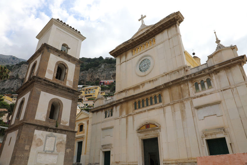 Church POSITANO(ITALIA) Positano Italy Positano, Italy Architecture Belief Building Building Exterior Built Structure Clock Cloud - Sky Day History Low Angle View Nature No People Outdoors Place Of Worship Positano Positanocoast Religion Sky Spirituality The Past Tower