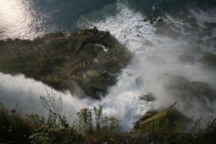 High angle view of niagara falls