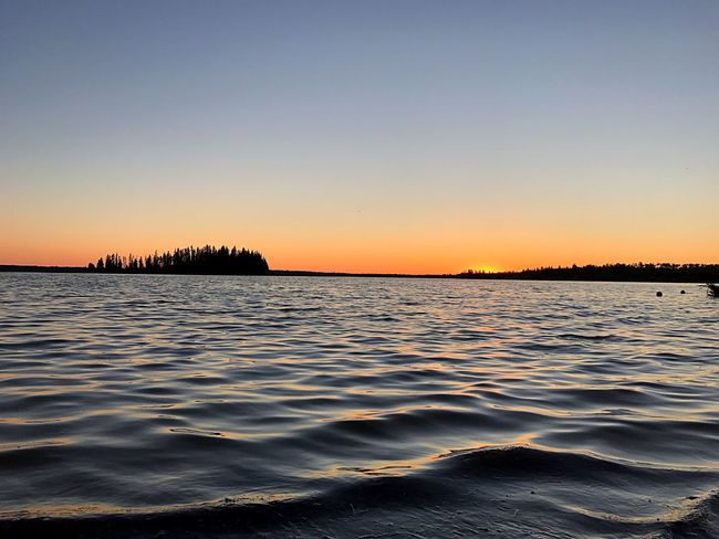Lake Sunset Beauty In Nature Scenics Water Nature Tranquil Scene Tranquility Clear Sky Outdoors No People Wave