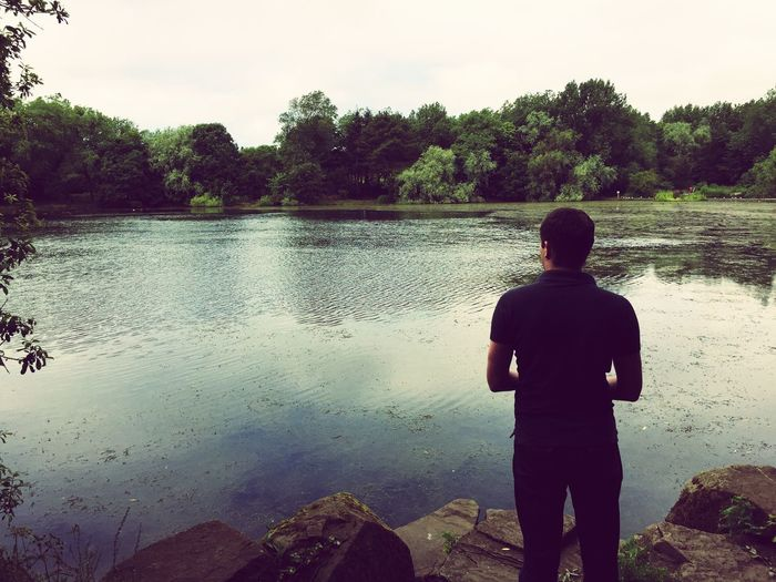 Enjoying The Sun Lake Water Urban Lifestyle