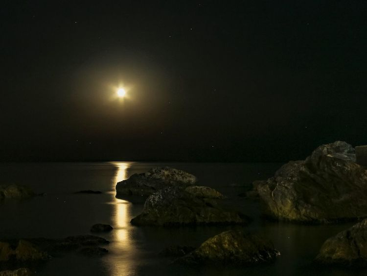 Moon Night Reflection Moonlight Landscape Star - Space Beauty In Nature Sea Water Nature Scenics Horizon Over Water Astronomy Sky EyeEm Nature EyeEm Selects EyeEm Team Nature Photography Nature_perfection EyeEmBestPics EyeEm Best Shots EyeEm Gallery EyeEm Best Edits Travel Destinations