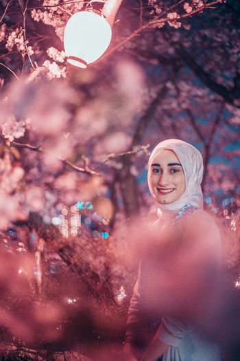 // whatever you're, be a good one // Japan Muslim Religious  Scarf Model EyeEm EyeEm Selects Portrait Portrait Of A Woman Past Pastel Pastel Colored Tones AMPt_community Shootermag Smile Smiling Springtime Decadence