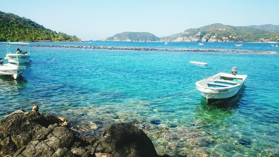 Sea Boats Water