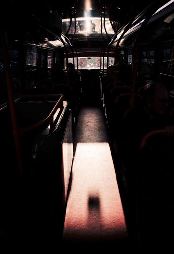 bus ride Bus Ride Evening Light Interior Views Light Postcode Postcards Public Transportation Reflection Sunlight Bus Illuminated Indoors  Light And Shadow Sunlight And Shadow Transportation Vehicle Seat Windows
