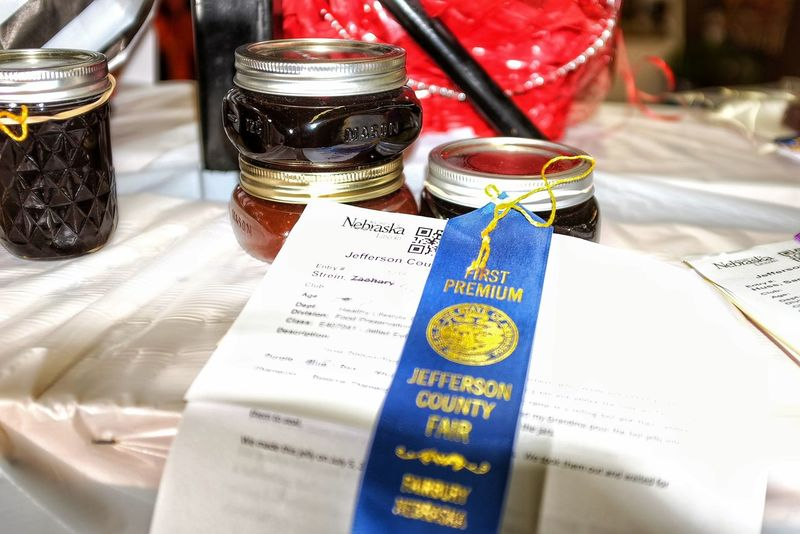 2016 Jefferson county Fair Fairbury Nebraska A Day In The Life Blue Ribbon C Camera Work Contests Countyfair Cultures Fair Farm Life Focus On Foreground Jams Jellyfish Lifestyles Nebraska Photography Preserves Rural America School Selective Focus Shooting Photos Still Life