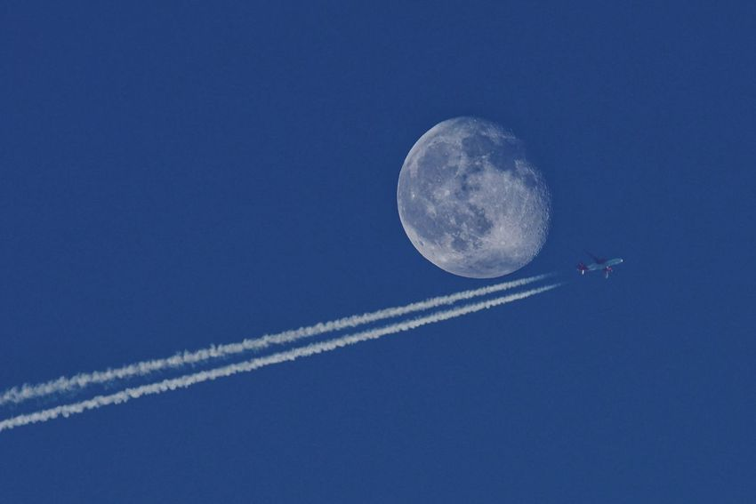 fly to... AirPlane ✈ Scia Gas Fly Aereo Astronomy Vapor Trail Space Airplane Aerobatics Clear Sky Airshow Flying Crescent Half Moon Space Travel Vehicle Space Exploration Astronaut Satellite View Planetary Moon Full Moon Rocket Moon Surface Satellite Moon Moonlight 10