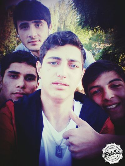 With friends Hello World