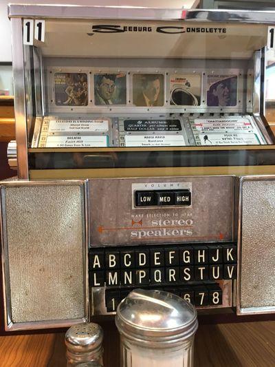 Juke box Vintage Jukebox Text Old-fashioned Indoors  Communication No People Day Close-up