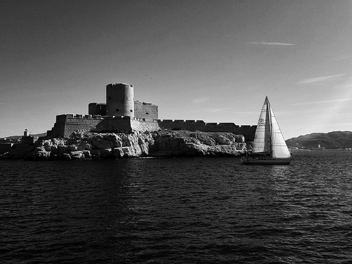 Bnw Bnw_collection Marseille Château Marseille Architecture Built Structure Building Exterior No People Skyscraper Outdoors Sky Day Water