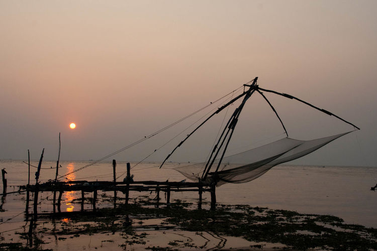 Beauty In Nature Day Fishernet India Kerala Landscape Landscape_Collection Landscape_photography Nature No People Outdoors Reflection Scenics Sea Sky Sunset Sunset_collection Tranquil Scene Tranquility Water Waterfront