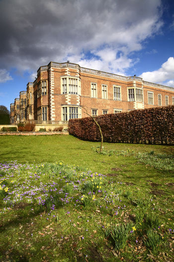 Temple newsam house england uk in the springtime Leeds Temple Newsam Temple Newsam House Tudor Architecture Building Exterior Cloud - Sky Day Heritage Jacobean Nature Sky Spring Uk