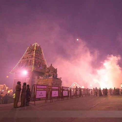 Mahamaham 2016 Kumbakonam @ponrajanvikram Mahamaham Mahamaham2016 Kumbakonam India Festival Temple Nightlife Night Light People Smoke Ponrajanvikram Halvat