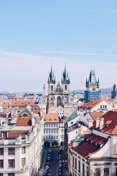 Church of our Lady before Tyn view from the Astronomical Tower at Klementinum. Architecture Building Building Exterior Built Structure City Cityscape High Angle View Place Of Worship Religion Residential District Spirituality TOWNSCAPE Travel Destinations The Traveler - 2018 EyeEm Awards
