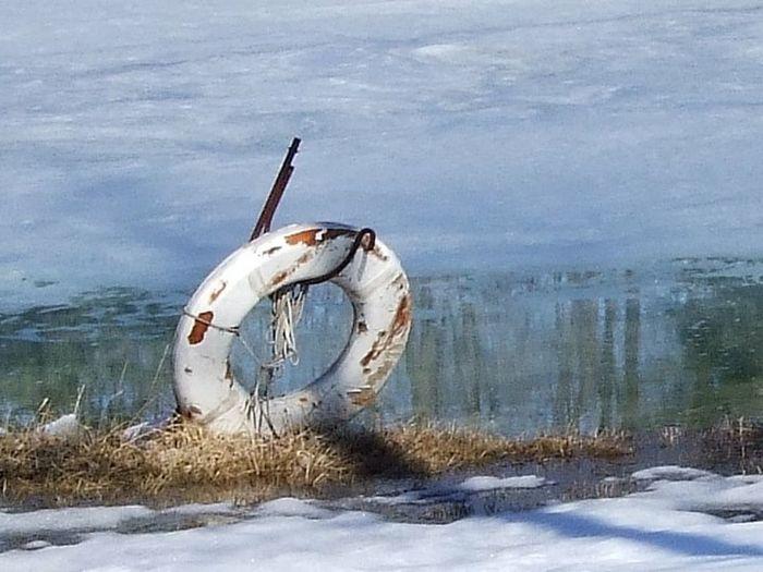 Winter Ice Lake Pond Snow Snow ❄ Life Saver Life Raft
