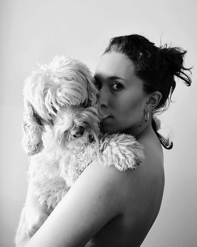My little P R I N C E S S   Personal Project Auto Portrait Dog Animal Themes Portrait Hugging Black And White Portrait Blackandwhite Photography Mylittleprincess EyeEmNewHere Lovely Dog Domestic Animals Long Goodbye EyeEm Diversity Live For The Story The Portraitist - 2017 EyeEm Awards Place Of Heart Pet Portraits Second Acts Black And White Friday