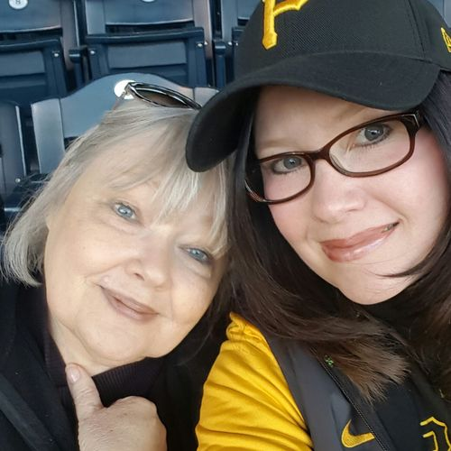 My Mom and me. Pittsburgh Life Pittsburgh Pirates PNC Park Baseball That's Us