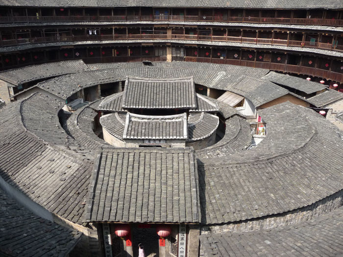 High angle view of a building