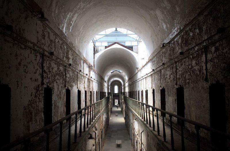 Interior Of Abandoned Prison