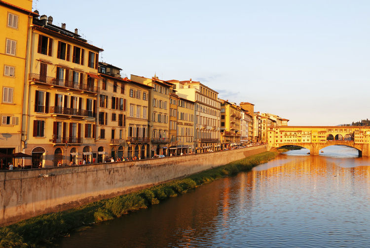 View Of Ponte Vecchio Over Arno River