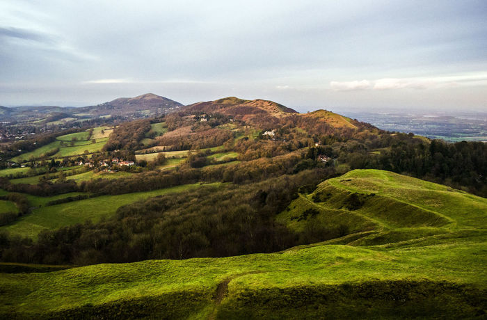 malvern hills Agriculture Beauty In Nature Cloud - Sky Day Freshness Grass Green Color Landscape Malvern Malvern Hills Mountain Mountain Peak Mountain Range Nature No People Outdoors Rural Scene Scenics Sky Tranquil Scene Valley