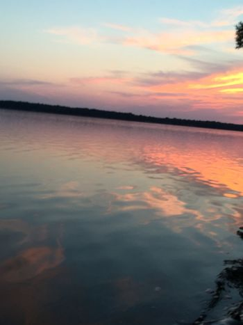 No Edit/no Filter Sunset Silhouettes Water Reflections Sunset Watching The Sunset Colors Sunset_collection Michigan Puremichigan