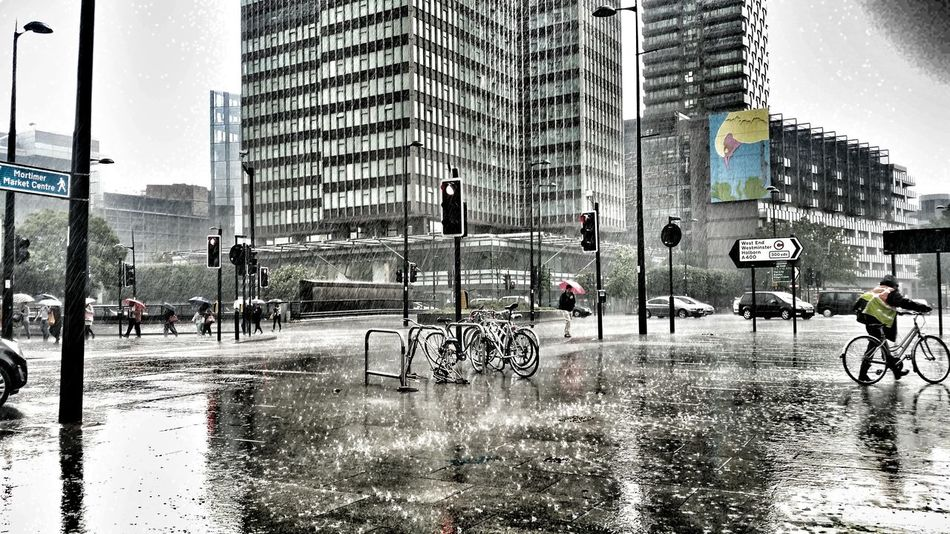 Let it rain Euston Warren Street Euston London Rain Storm