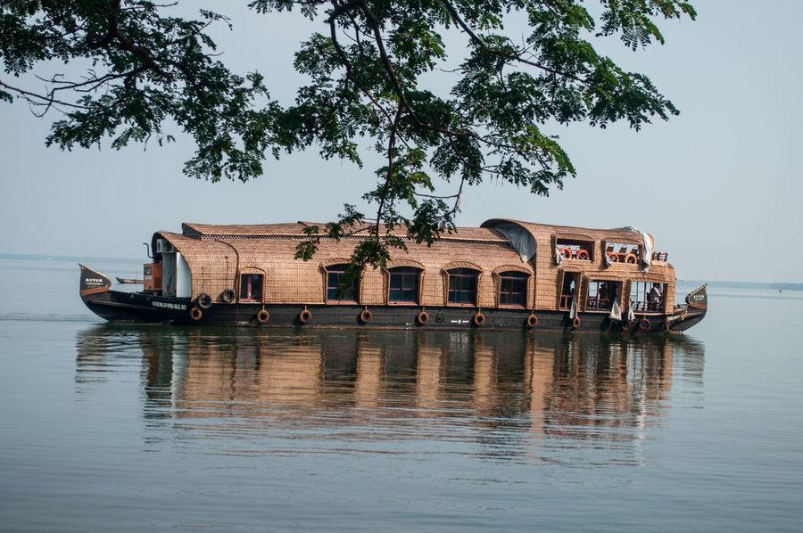 Acqua Barça Boat Imbarcazione India Indian Boat Indian Ship Kerala Kerala India Mare Reflection Ship Water