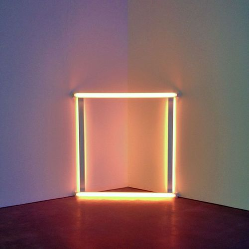 """""""there is a light that never goes out"""" - dan flavin (untitled 1966-71) at Davidzwirner Gallery Chelsea Manhattan newyork ny nyc newyorkcity danflavin art light color"""