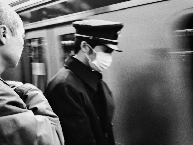 Japan Tokyo EyeEm Best Shots Peoplephotography Streetphotography Snapseed Snapseed 2.0 Train Blackandwhite Black And White