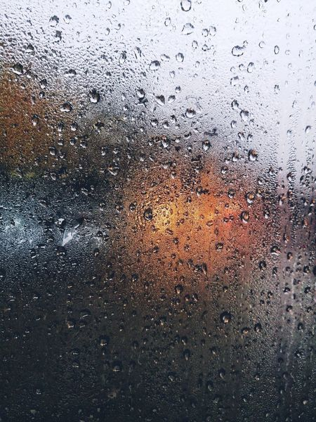 Rainy day Water Backgrounds Full Frame Drop Window Abstract Wet Close-up Sky