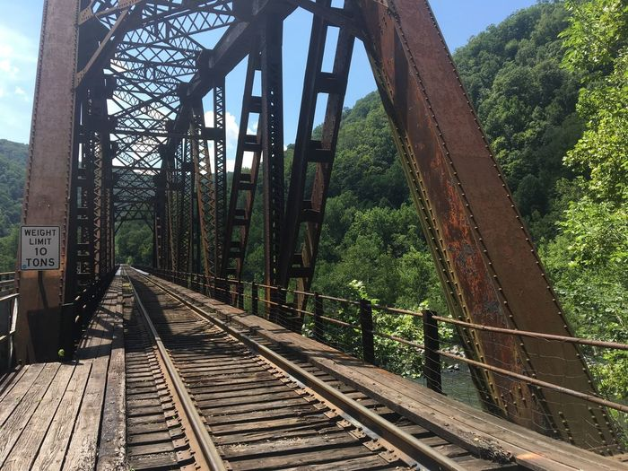 EyeEmNewHere Railroad Track Rail Transportation Transportation Bridge - Man Made Structure Day Connection Tree Built Structure Outdoors No People Architecture EyeEmNewHere