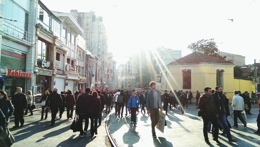 Istiklal Caddesi Sunny Istanbul On The Move Iloveistanbul Street Photographer-2016 Eyem Awards Stories From The City
