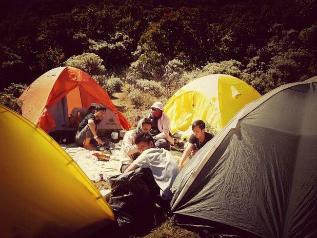 Camping Enjoying Life Relaxing