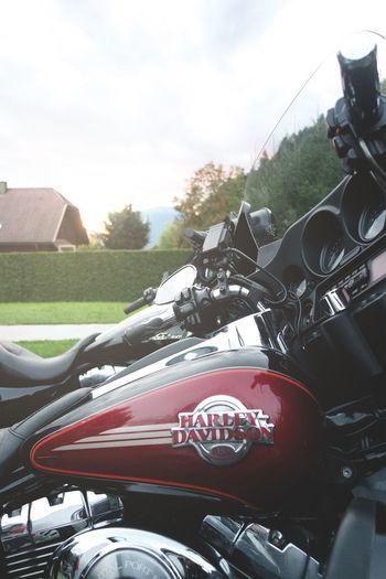 Lake Faak (Faaker See ), Austria - September 06, 2015 - Line of parked motorcycles during European Bike Week festival. Bike Biker Chopper Day European Bike Week Festival FaakAmSee Faaker See Festival Harley Davidson Motorbike Motorcycle No People Outdoors Ride Week