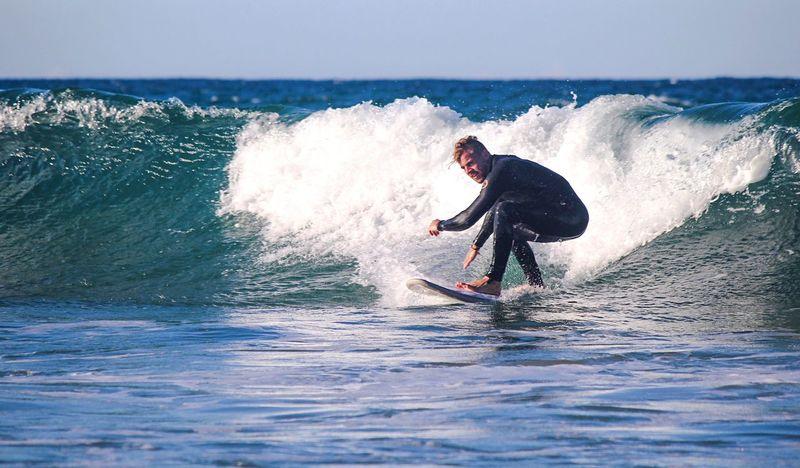 Sea Surf Lifestyles Sport One Person Wave Leisure Activity Adventure Skill  Balance Healthy Lifestyle Challenge Water Extreme Sports Men Outdoors Composition Canon Travel Beach EyeEm EyeEmBestPics EyeEm Best Shots EyeEm Gallery EyeEm Best Edits