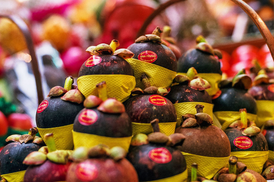 Close-up Day Focus On Foreground Food Food And Drink For Sale Freshness Fruit Indoors  Large Group Of Objects Mangosteen Mangosteen Fruit Multi Colored No People Food Stories